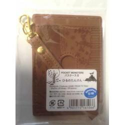 Pokemon Center 2014 Vulpix Butterfree Eevee Togepi & Friends Silhouette Train Pass Case (Brown)