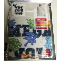 Pokemon 2014 Uniqlo Heattech Mega Lucario Charizard X Gengar Tyranitar & Friends Childrens Size Thermal Tshirt