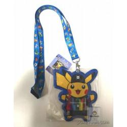 Pokemon Expo Gym 2016 Pikachu Lanyard Neck Strap Train Pass Case (Blue Version)