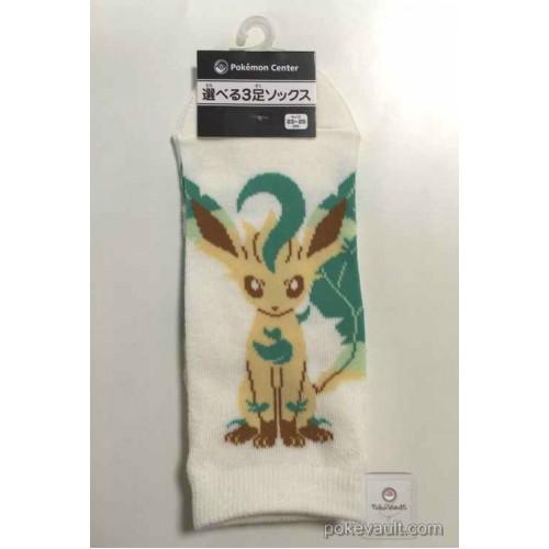 Pokemon Center 2016 Leafeon Adult Short Socks (Size 23-25cm)