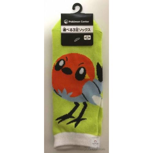 Pokemon Center 2016  Rowlet's Garden Campaign Fletchling Adult Short Socks (Size 23-25cm)