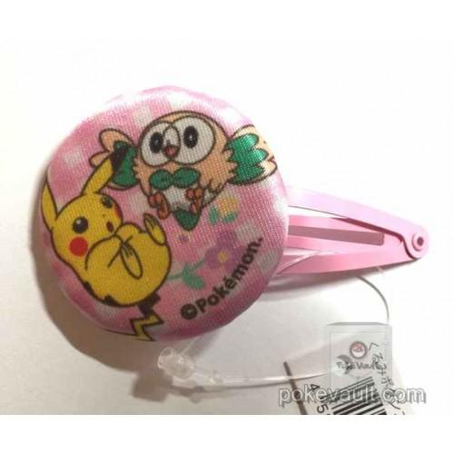 Pokemon Center 2017 Rowlet Pikachu Hair Pin