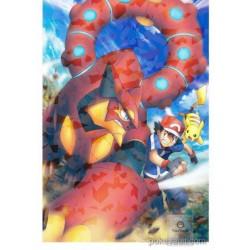 Pokemon 2016 Ash Ketchum Volcanion Pikachu Large Bromide XY&Z Series #2 Movie Version Chewing Gum Prism Holofoil Promo Card (Version #2)