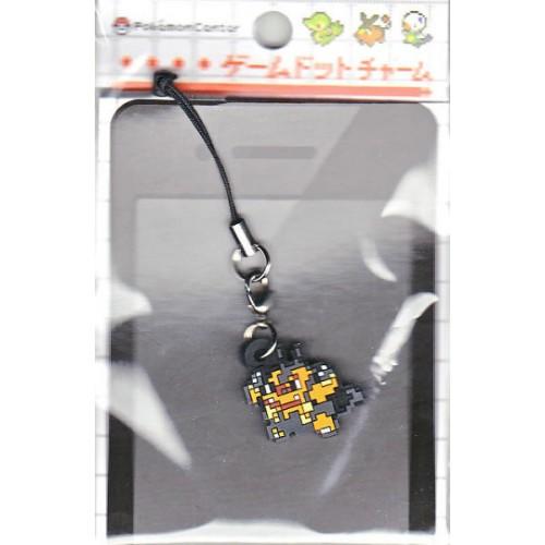 Pokemon Center 2012 Game Dot Charm Pignite Mobile Phone Earphone Jack Accessory Strap