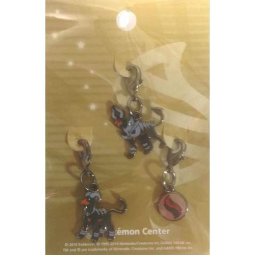 Pokemon Center 2014 Houndoom Mega Houndoom Mega Stone Set of 3 Charms