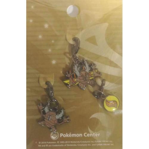 Pokemon Center 2014 Pinsir Mega Pinsir Mega Stone Set of 3 Charms