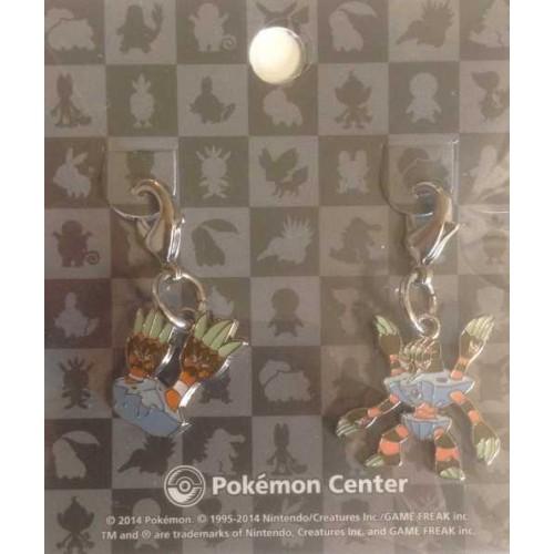 Pokemon Center 2014 Binacle Barbaracle Set of 2 Charms