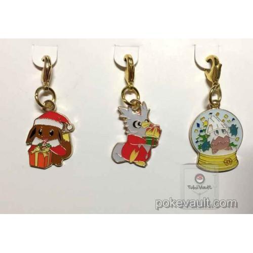 Pokemon Center 2016 Christmas Campaign Eevee Delibird Snorunt Set Of 3 Charms (Version #2)