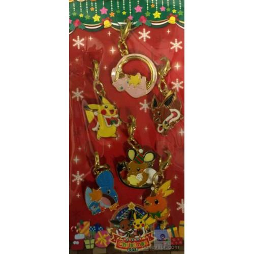 Pokemon Center 2015 Christmas Illumination Campaign Mew Eevee Torchic Mudkip Pikachu Dedenne Set Of 6 Charms