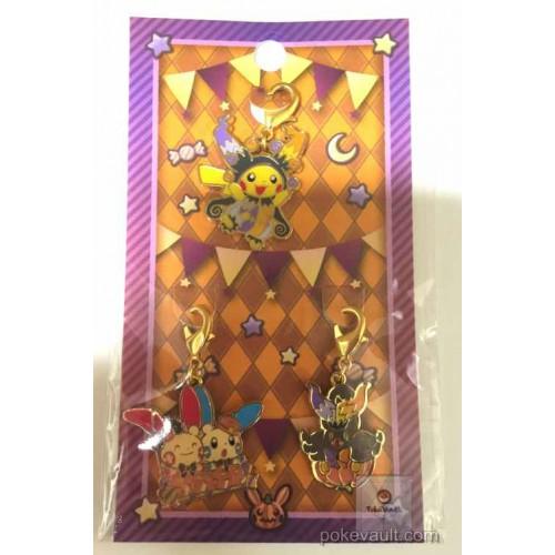 Pokemon Center 2016 Halloween Circus Campaign Pikachu Pumpkaboo Minun Plusle Set Of 3 Charms