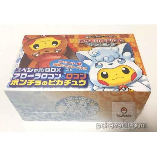Pokemon Center Sapporo 2017 Renewal Opening Campaign #2 Poncho Pikachu Vulpix Alolan Vulpix Special Card Box Set