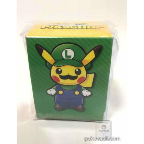 Pokemon Center 2016 Mario Pikachu Campaign Luigi Pikachu Large Size Deck Box