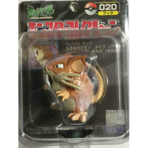 "Pokemon 2000 Raticate Tomy 2"" Monster Collection Plastic Figure #020"