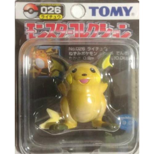 "Pokemon 2004 Raichu Tomy 2"" Monster Collection Plastic Figure #026"
