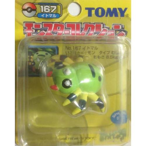 "Pokemon 2004 Spinarak Tomy 2"" Monster Collection Plastic Figure #167"