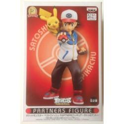 Pokemon 2012 Banpresto UFO Game Catcher Prize Partners Ash Ketchum Pikachu Figure