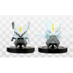 Pokemon Center 2013 Wii Pokemon Rumble Scramble U Series #4 White Kyurem Plastic Figure