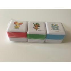 Pokemon Center 2013 Fennekin Chespin Froakie Set of 3 Ink Stampers
