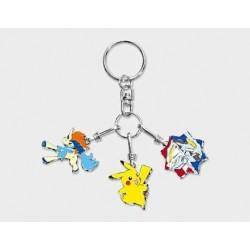 Pokemon Center 2012 Keldeo Pikachu Black White Kyurem Movie Version Metal Charm Keychain