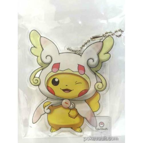 Pokemon Center 2015 Poncho Pikachu Campaign #1 Mega Audino Acrylic Plastic Character Keychain