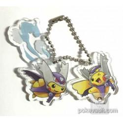 Pokemon Center 2015 Poncho Pikachu Campaign #1 Mega Latias Mega Latios Plastic Charm Keychain (Version #9)