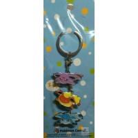 Pokemon Center 2016 Kuttari Espeon Flareon Glaceon Metal Charm Keychain