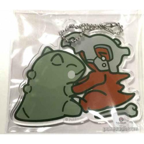 Pokemon Center 2016 Whimsicott Substitute Campaign Whimsicott Substitute Cubone Plastic Keychain (Version #4)