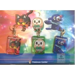 Pokemon Center 2016 Litten Rowlet Popplio Set Of 3 Metal Plate Charms