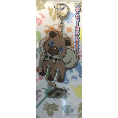 Pokemon Center 2016 Rockruff Acrylic Plastic Character Keychain