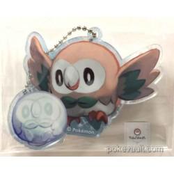 Pokemon Center Sapporo 2016 Renewal Opening Snow Festival Campaign Rowlet Acrylic Plastic Keychain (Version #4)