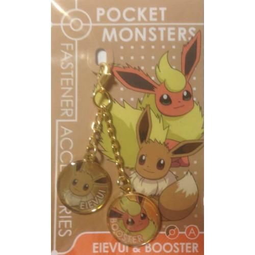 Pokemon Center 2013 Eevee Flareon Fastener Accessory Charm