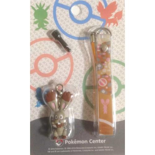 Pokemon Center 2014 Bunnelby Mobile Phone Earphone Jack Accessory Charm Strap