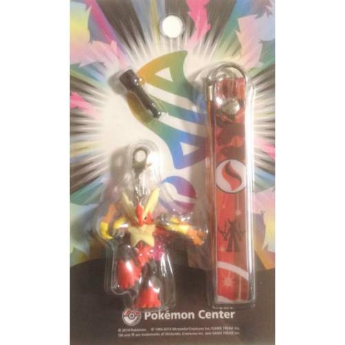 Pokemon Center 2014 Mega Blaziken Mobile Phone Earphone Jack Accessory Charm Strap