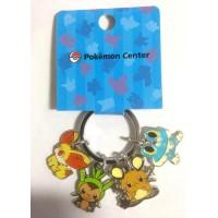 Pokemon Center 2014 Fennekin Froakie Chespin Dedenne Pokedoll Metal Keychain