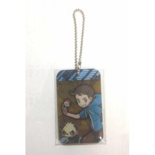 Pokemon Center 2014 Pokemon & Trainers Campaign Boy Pancham Metal Plate Keychain