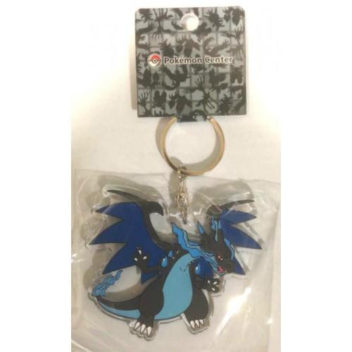 Pokemon Center 2014 Mega Charizard X Acrylic Plastic Character Keychain
