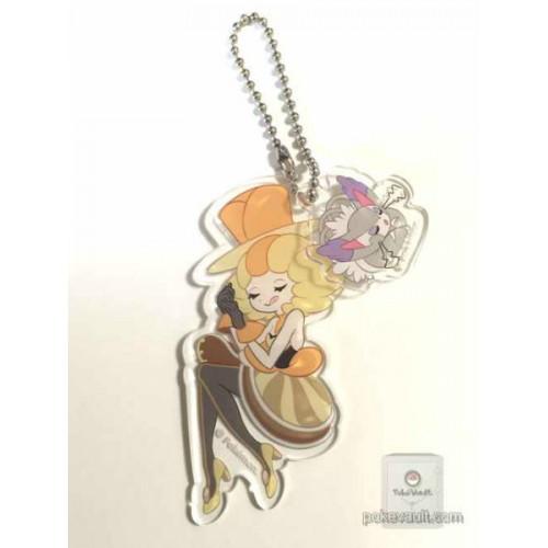 Pokemon Center 2015 XY Heroine Collection Nita Purugly Plastic Keychain (Version #2)