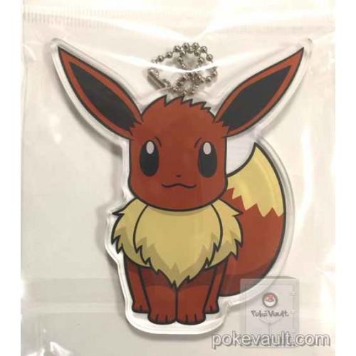 Pokemon Center 2015 Eevee Acrylic Plastic Character Keychain