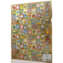 Pokemon Center 2012 Pokemon Doll Stamp Campaign A4 Size Clear File Folder