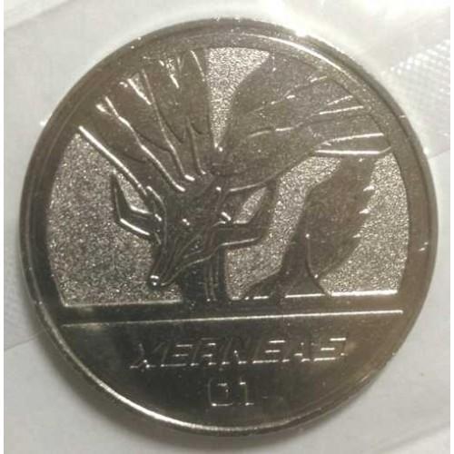 Pokemon 2013 Pokemon XY Medal Collection Xerneas Metal Coin #01
