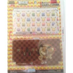 Pokemon Center 2013 Nintendo 3DSLL Eevee Pikachu 2 Interchangeable Single Sided Hardcover Set
