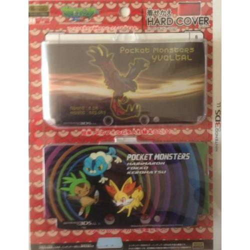 Pokemon Center 2013 Nintendo 3DSLL Yveltal Chespin Fennekin Froakie 2 Interchangeable Single Sided Hardcover Set