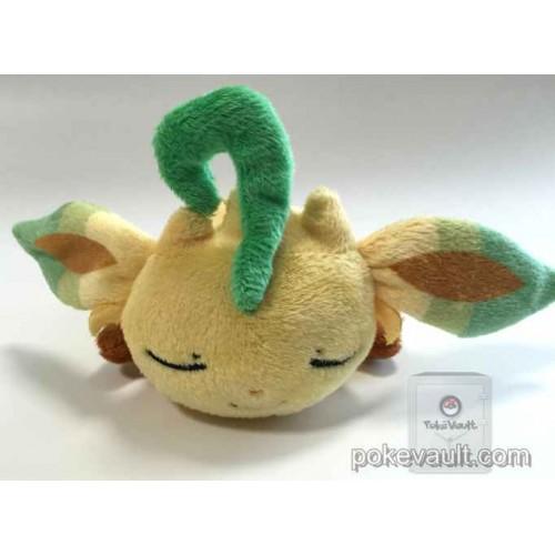 Pokemon Center 2015 Kuttari Series #3 Leafeon Bean Bag Plush Toy (Sleeping Version)