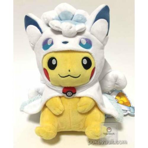 Pokemon Center Sapporo 2017 Renewal Opening Campaign #2 Poncho Pikachu Alolan Vulpix Plush Toy