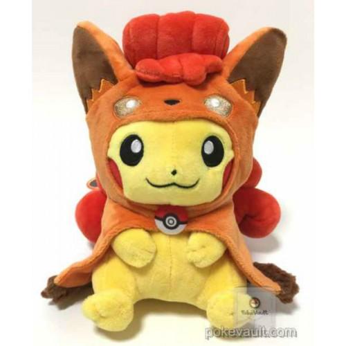 Pokemon Center Sapporo 2017 Renewal Opening Campaign #2 Poncho Pikachu Vulpix Plush Toy