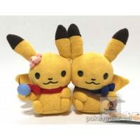 Pokemon Center 2017 Shinzi Katoh Little Tales Campaign #4 Pair Pikachu (Male & Female) Plush Toy