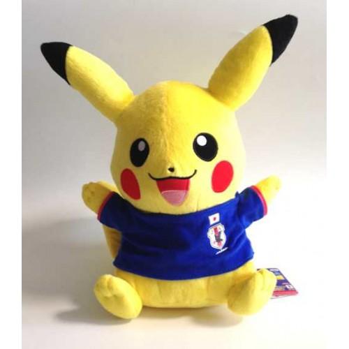 Pokemon 2014 Banpresto UFO Game Catcher Prize Pikachu Samurai Blue World Cup Soccer DX Plush Toy (Version #2)