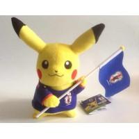 Pokemon Center 2014 Pikachu Samurai Blue World Cup Soccer Plush Toy (Version #2)