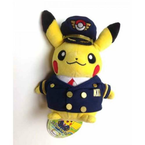 Pokemon Store Osaka Kansai Airport 2014 Pilot Pikachu Plush Toy