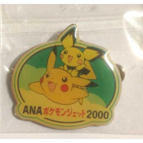 Pokemon 2000 ANA Flying Pikachu Pichu Pin Badge